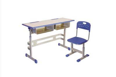 YF-X042 双人课桌椅